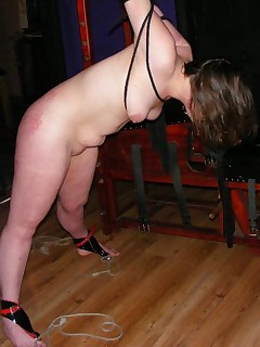 Sexy bound girls all stringed up and spread