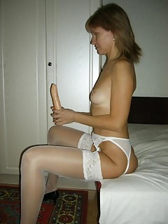 Sexy mature lady with dildo Im sure she loves jamming it in her shit slicer