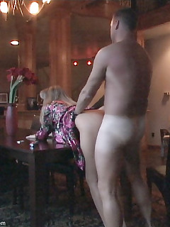 Its raining outside so Wifey gives Hubby a nice blowjob