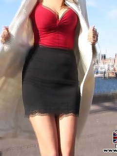 Big titted streetslut fucked hard by a stiffy senior dick
