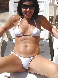 Nice gallery of a kinky amateur sexy housewife outdoors