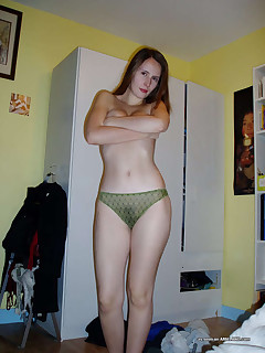 Pictures of a lovely amateur wife in their honeymoon