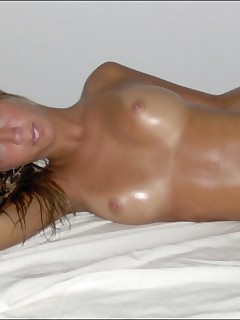 Hot blonde MILF gets naked and experiments with different poses