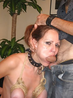 It was again time to slave training My master played with my boobs roughly using rope clamps and his switch fucked all my holes and brought me to several orgasms He used me anally vaginally and orally and cummed in my mouth through a special ring gag and finally pissed in as well