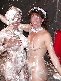 This is a fun set some with LadyHawk some with April Love before during and after videos we did together Check out the video page for Wet Lady Love andThe Rebellion of the Pie Throwing Maid as you can see we had some fun doing them