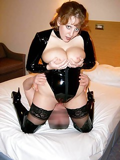 Leather n Cum  My sexy leather outfit was simply to much for this lucky member No sooner had I ground his face into my moist pussy than he was cumming all over my soft ample breasts Of course I loved every minute of it
