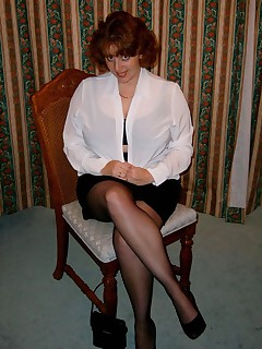 At the time these were taken I was working as a receptionist and I used to tease the blokes in the office by wearing a get up like this  Needless to say when I got home it turned my partner on too so I would strip for him