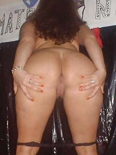 Busty housewife naked and spreading her pussy for her husband