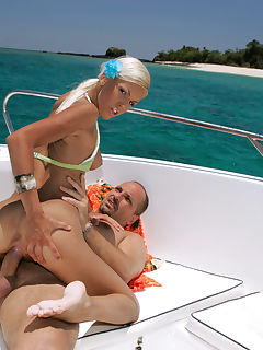 Boroka Balls gets deep fucked on a speedboat by big cock guy