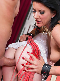 Cougar Celine Makes Her Sex Slave Linda Take an Anal Gaping Pounding