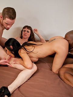 Big interracial swinger party where every hole gets fucked