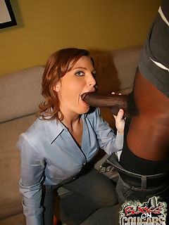 Redhot Cougar MILF fucks young black eats his cum