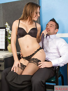 Callie Calypso may seem like a good girl at work but shes really really dirty and she sets out to prove this to her coworker Callie throws of her clothes and starts banging her coworker on her desk to prove what a dirty girl she can be