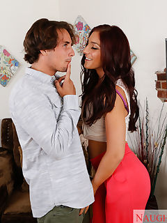 Mischa Brooks has hot sex with her neighbor and has loud orgasms
