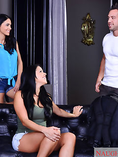 Diamond and Jasmine took a trip to go backpacking through Europe They booked a place they would be sharing with some other backpackers Johnny comes through the door and introduces himself to these lovely ladies Johnny tries to get a hold of his friends on his phone while they scheme on what to do to his body The two remember their college day threesomes and agree to live those glory days again