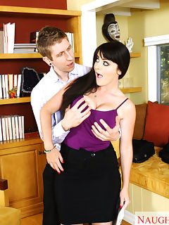 Sophie Dee has hot sex with younger guy at the office