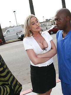 Pornstar Kylie Worthy in interracial threesome