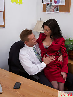 Gorgeous Veronica Avluv fucks one of the employees at her work and has hot orgasms