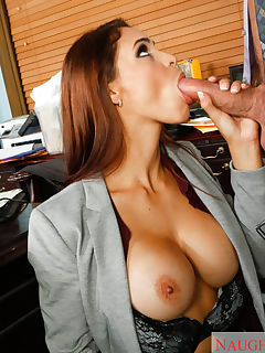 Jasmine Caro stops be her ex husbands law office to collect the alimony that he hasnt been paying All their arguing gets them both hot and it rekindles their romance Jasmine gets down on her knees and sucks her ex husbands cock then rides him on his desk Looks like Jasmine didnt need the money after all to make her happy she just needed a hot batch of jizz on her face