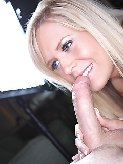 petite blonde beauty blows cock gets fucked and swallows semen