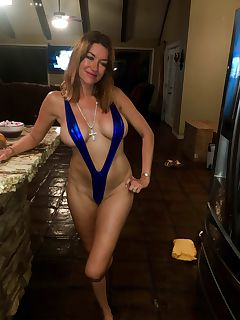 This MILF looks great in her tiny sling bikini xpost from rWhyEvenWearAnything