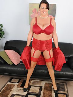 Busty mature Angela