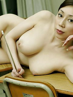 Album Japanese MILF with glasses stripteases
