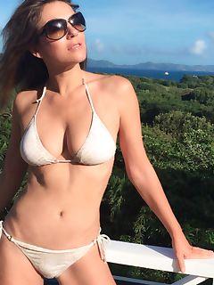 Liz Hurley in a bikini