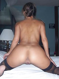 Slutty housewife spreads her pussy