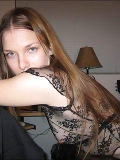Housewife teasing in a seethru lingerie