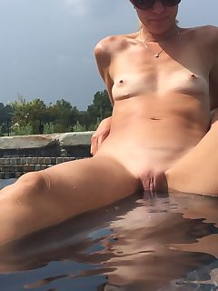 my milf relaxing at the pool