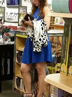 asian milf in a bookstore