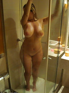 curvy in the shower