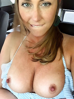 lip bite and frex in the car