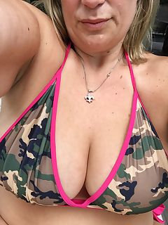 milf salute to our soldiers aka me in a camo bikini