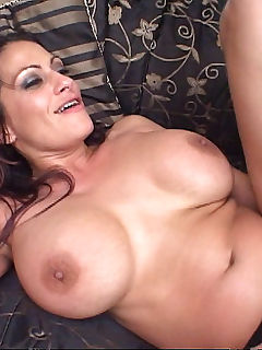 Busty milf hotty is titty fucked before her pussy gets plowed