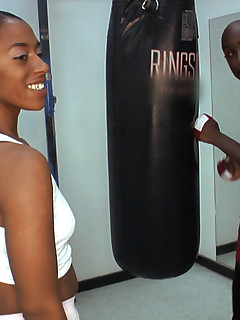 Damn her has is so juicy and round! We figured why not put her in the ring with our homie Rock