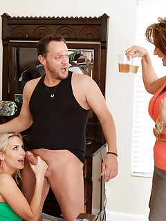 One lucky guy gets to fuck both Alanah Rae and milf Deauxma in this sexy threesome