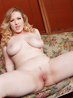 Blonde amateur with huge tits makes her porn debut by taking a hot load